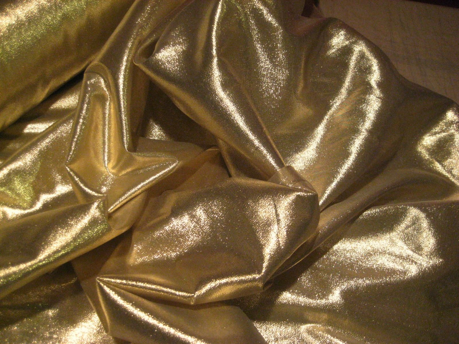 beautiful 25 yard gold lame fabric roll with super fine weave of