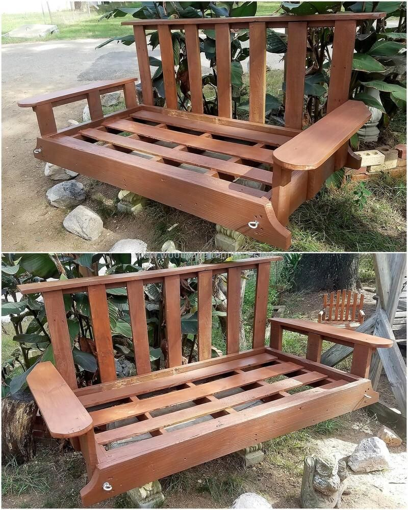 Diy ideas for recycled pallets reusing garden swings pallets