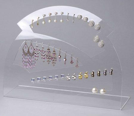 Acrylic Jewellery Display Clear Earring Fan All Types Of Earrings