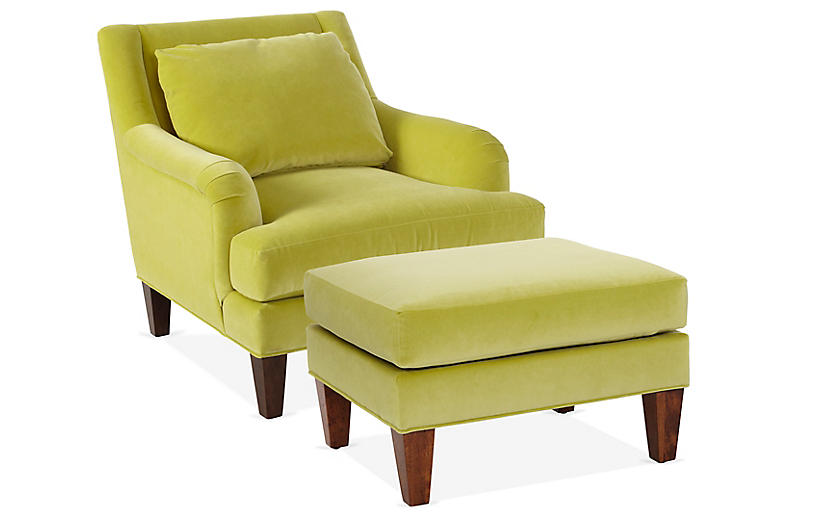Merrimack Chair Ottoman Set Chartreuse Chair And Ottoman Set Ottoman Set Chair And Ottoman