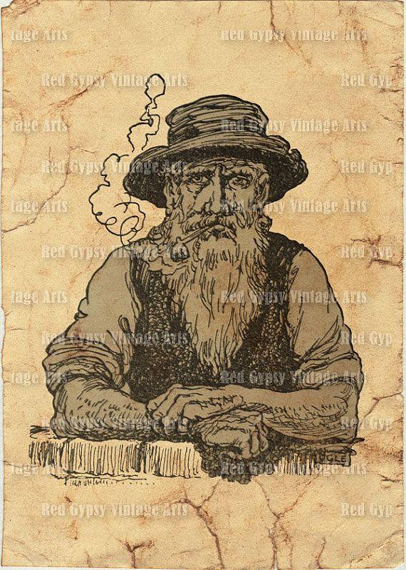 Old bearded man | Public domain vectors
