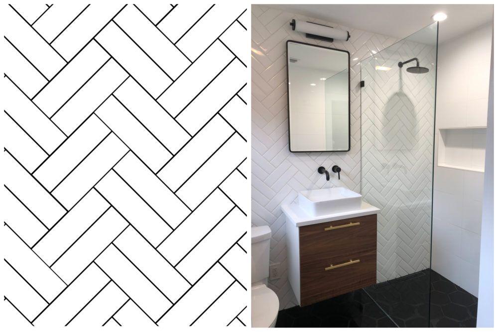 Tile Patterns And Layouts Patterned Bathroom Tiles Tile Bathroom Bathroom Interior Design