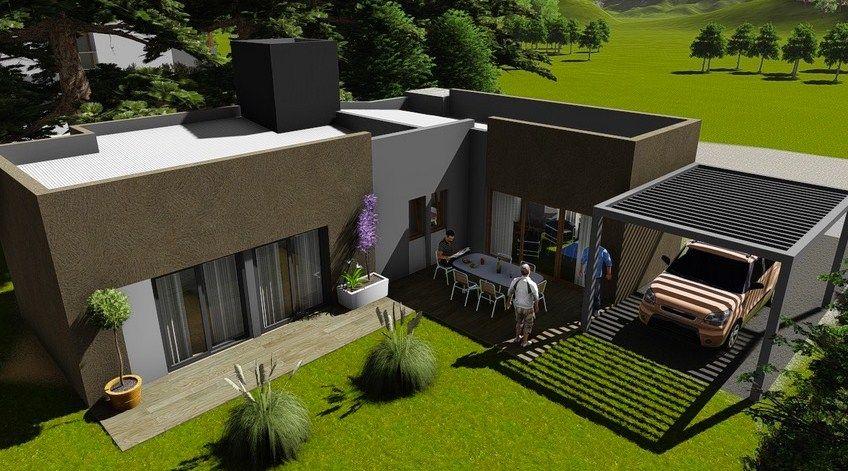 Casa de dos habitaciones homes planos de casas for Casas modernas imagenes y planos