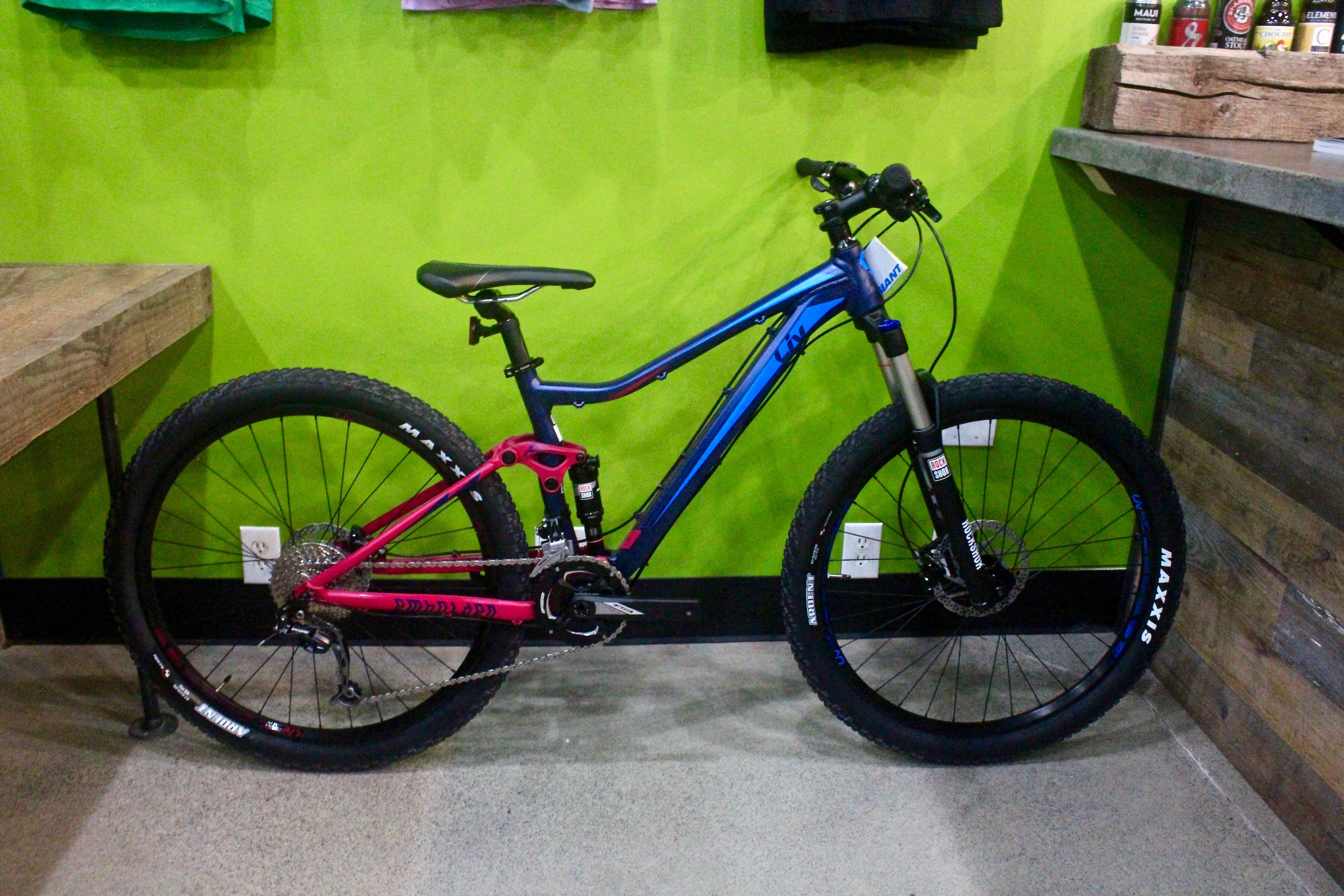 Liv Embolden Blue Purple Red Womens Mountain Bikes Sizes In
