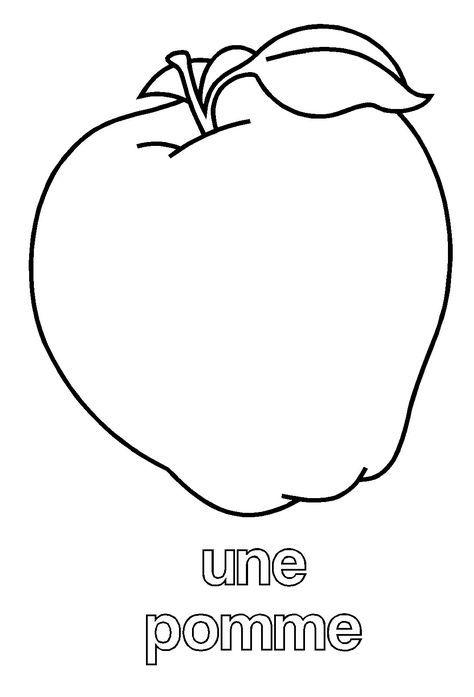 Automne en maternelle la pomme ovoce pinterest la - Dessin pomme apple ...