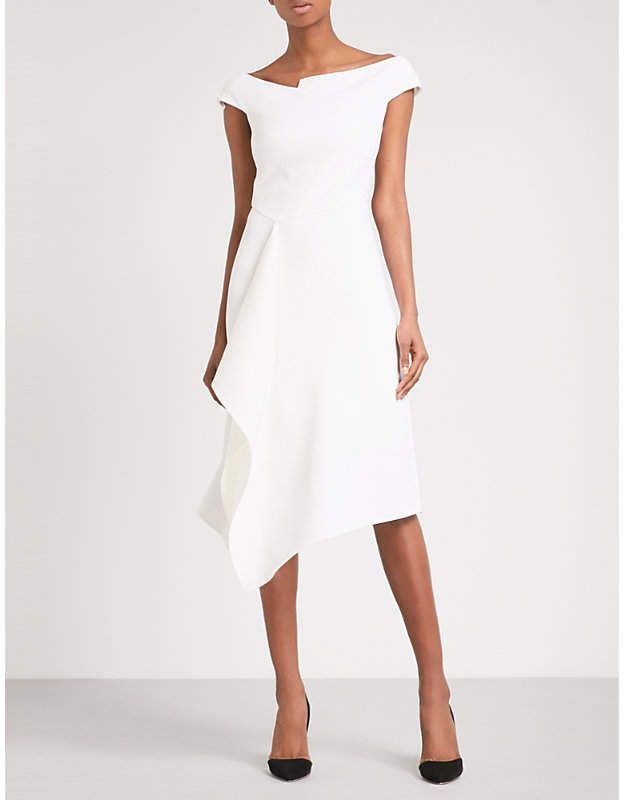 2d317b5468e Roland Mouret Barwick fit-and-flare wool-crepe dress