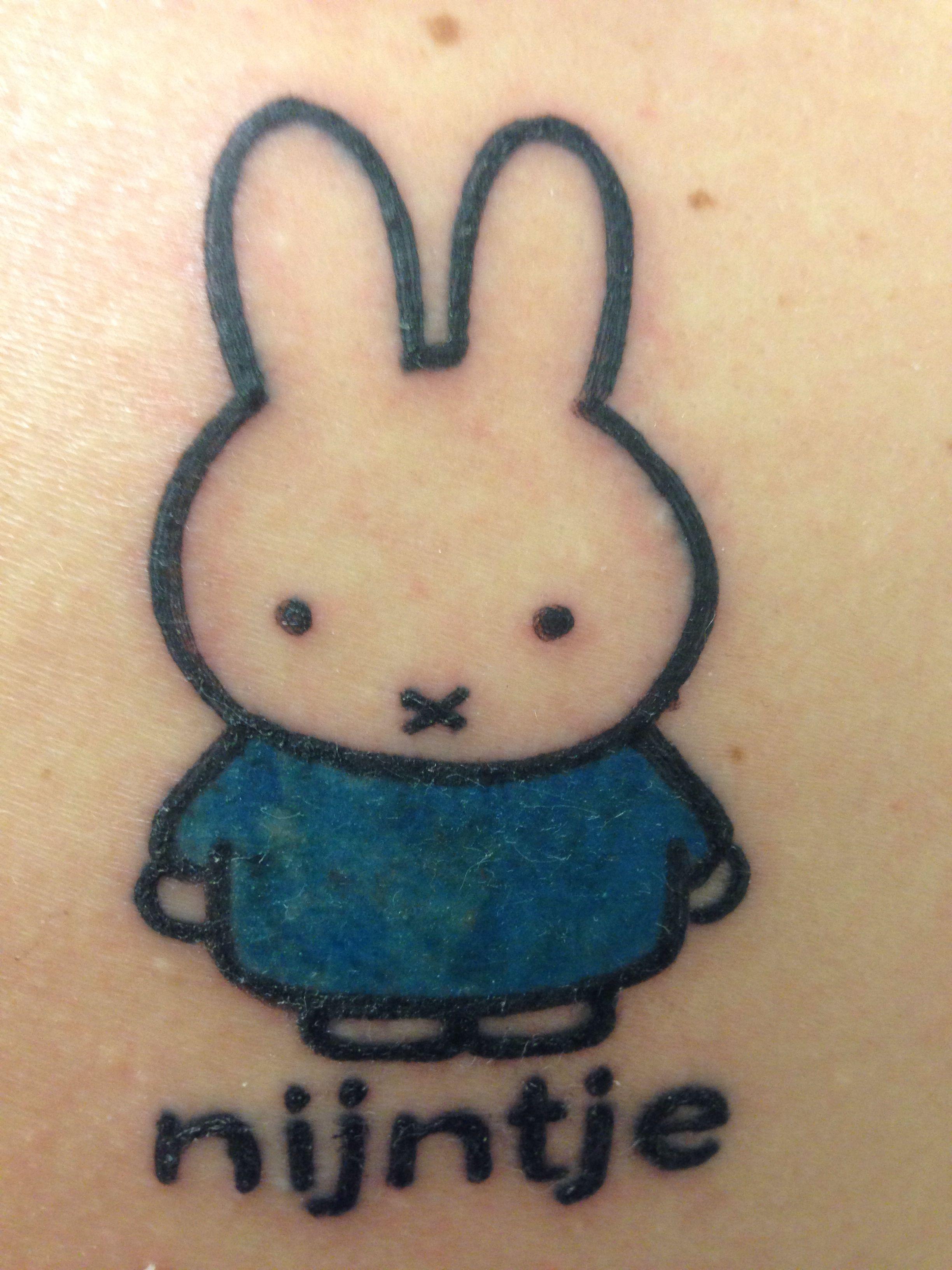 d32c32759 My first tattoo!!!!   Ik hou van Nijntje   Tattoos, Print tattoos ...