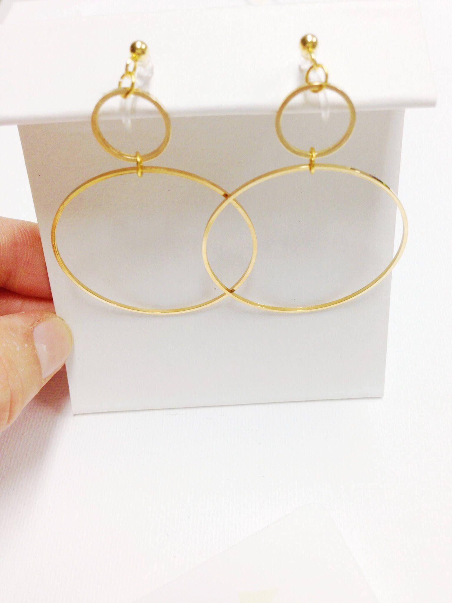 Exaggerated Hoop Earrings, Ultra Thin Wire Hoop Earrings, Extra ...