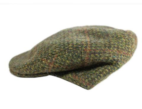 New from Ireland Irish Waxed Flat Cap Olive Green