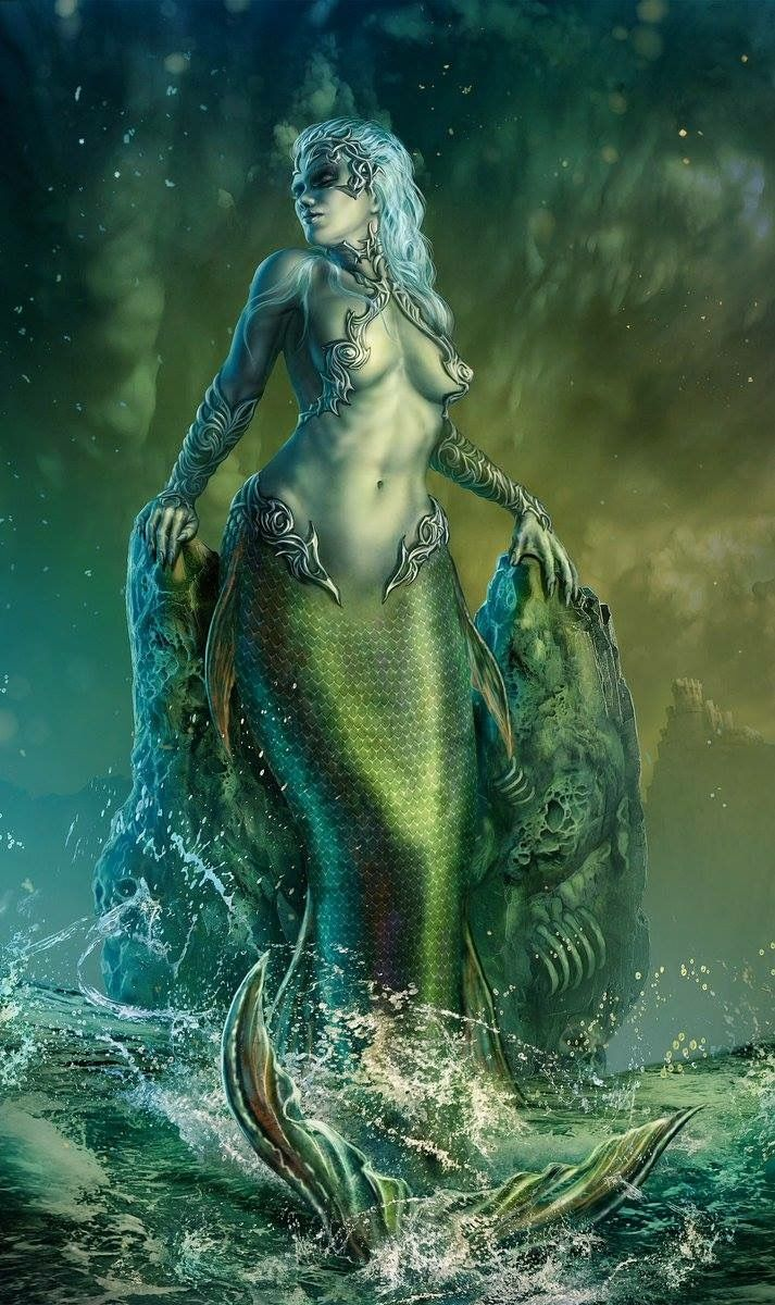 Zabrina the Warrior Mermaid waits for her backup mermaids     Zabrina the Warrior Mermaid waits for her backup mermaids
