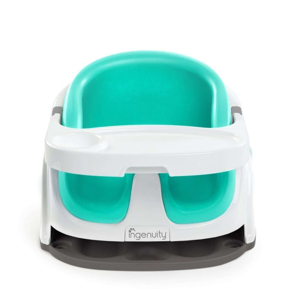 Portable Baby Booster Seat Plastic Adjustable White Green Car Table ...