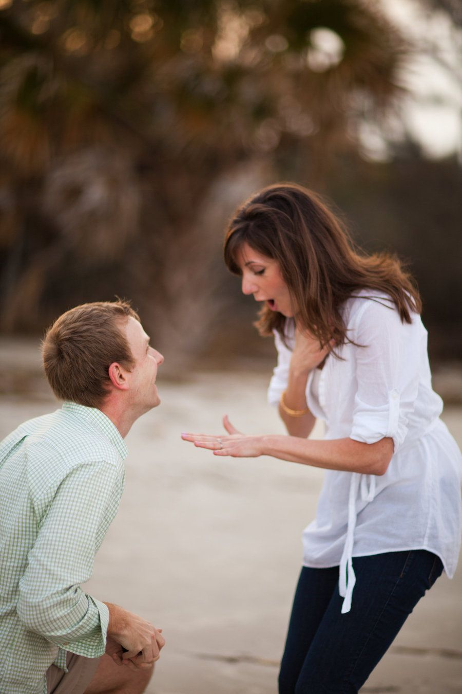 "Need a little ""happy"" in your Monday? Take a look at this surprise proposal captured by sarahdeshaw.com . One of those truly feel-great moments! Watch the film on http://StyleMePretty.com/georgia-weddings/2012/04/30/jekyll-island-surprise-proposal-by-sarah-deshaw-photography/"