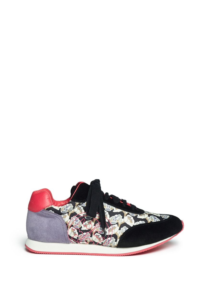 bced5d83f6dcc TORY BURCH -  Delancey  floral print sneakers