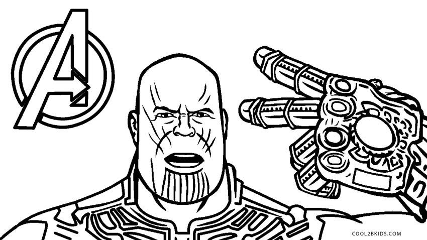 Coloring Pages Of Avengers Infinity War