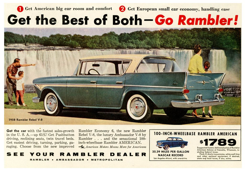 Ramble On Rambler Small Cars American Motors