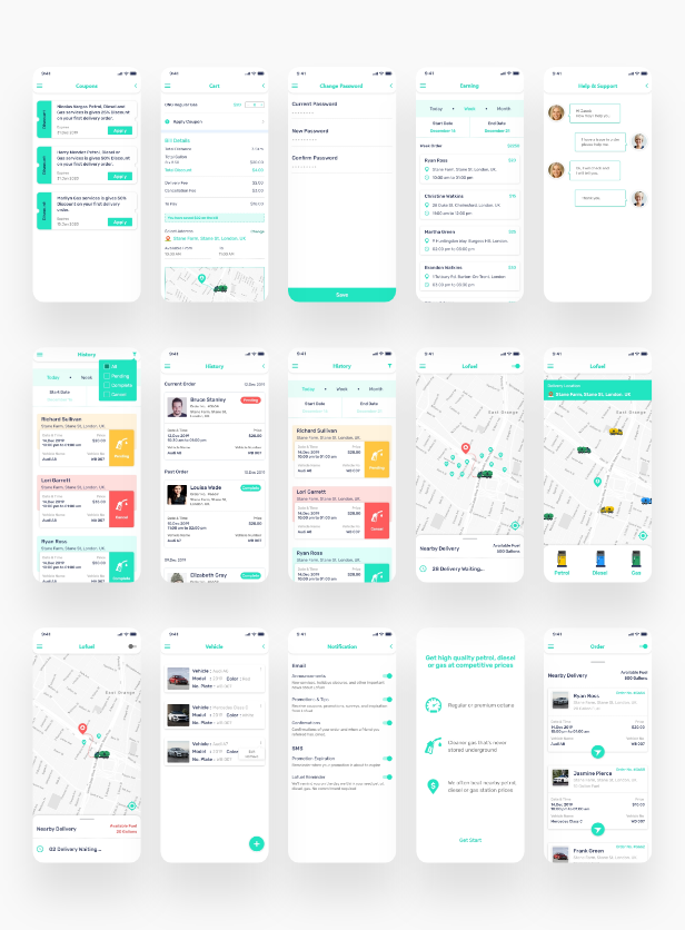 Lofuel On Demand Fuel Gas Delivery App Ionic 5 Template In 2020 Gas Delivery Delivery App App Template