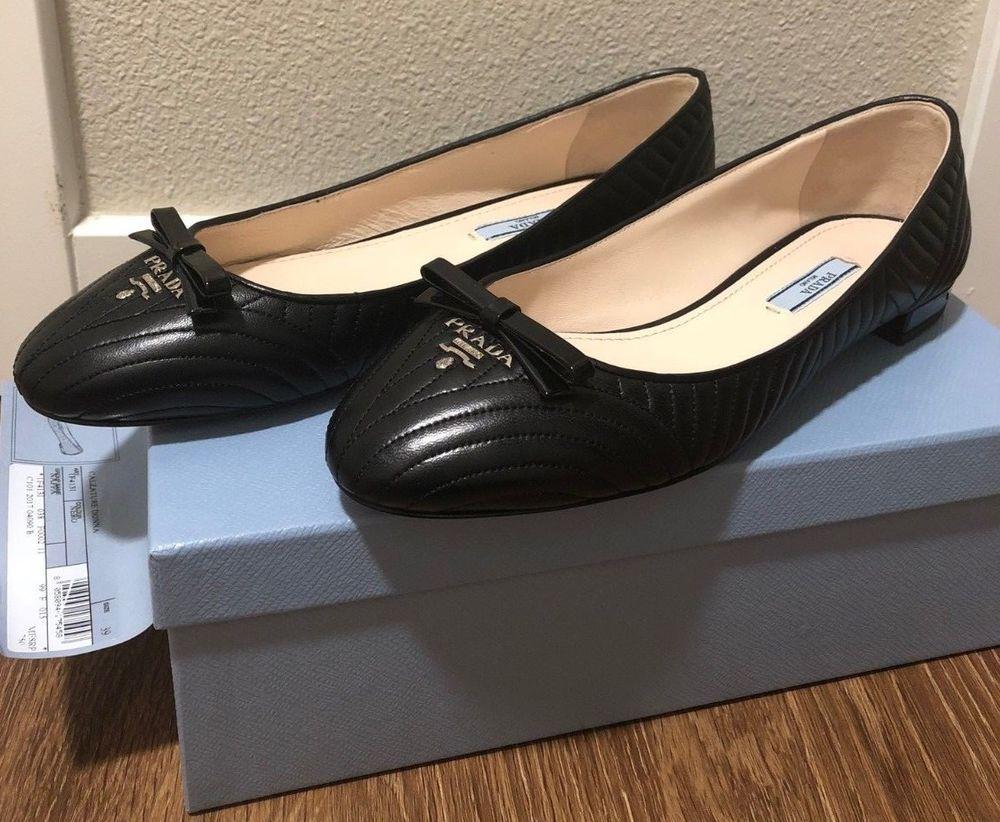 395e52cca430 Prada Calzature Donna nero nappa size 9  fashion  clothing  shoes   accessories  womensshoes  flats (ebay link)