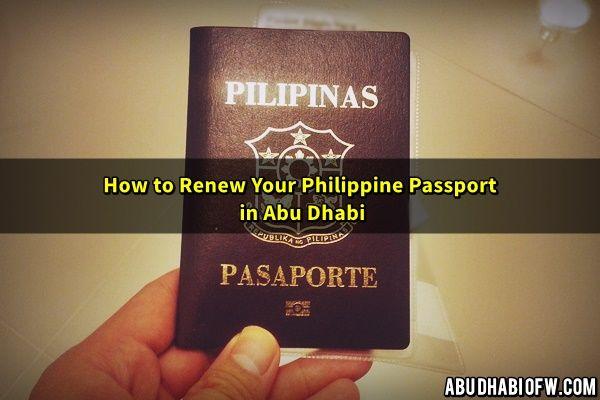 Renew Philippine Passport Abu Dhabi  Passport Renewal