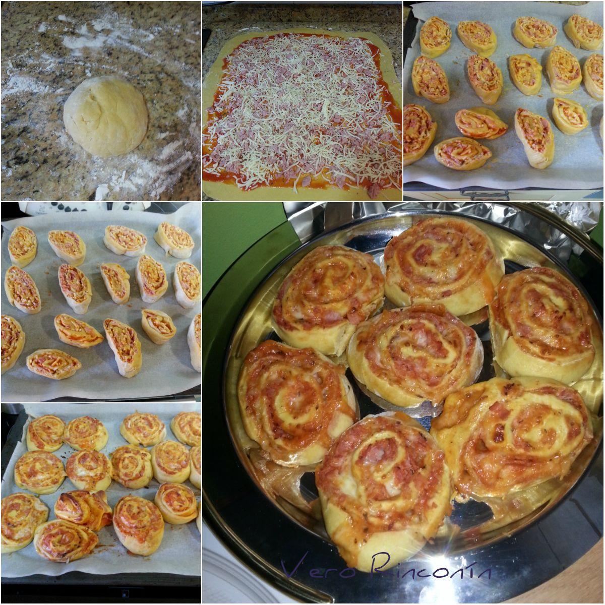Espirales de pizza