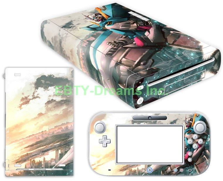 EBTY-Dreams Inc. - Nintendo Wii U - Gundam Mobile Suits Anime Mecha Vinyl Skin Sticker Decal Protector