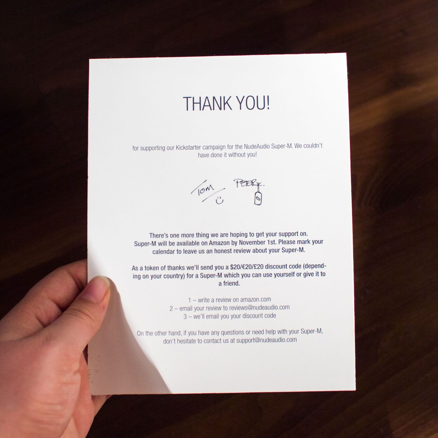Thank You Note  Packaging  Online Orders    Note