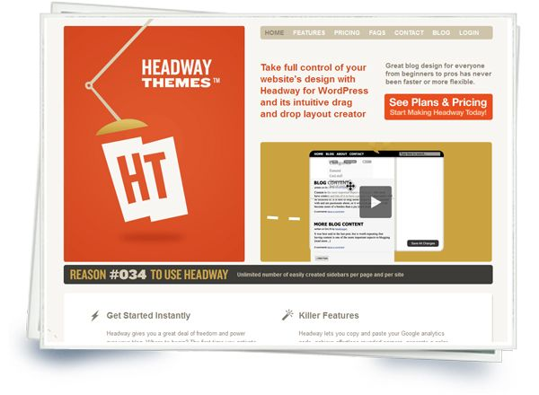 Headway Themes Wordpress Theme Premium Wordpress Themes Website Design Tools