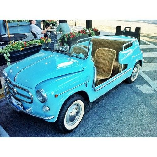 fiat 600 Jolly, complete with wicker seats