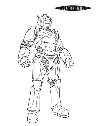 Cybermen Coloring Page From Doctor Who Category Select From 24104 Printable Crafts Of Cartoons Nature Anim Coloring Pages Coloring Books Coloring Book Pages
