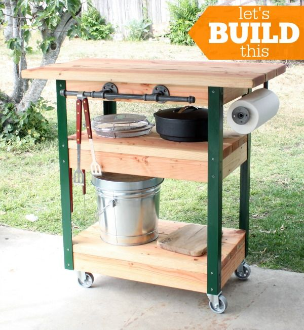 That S My Letter Quot D Quot Is For Diy Workshop Grill Cart