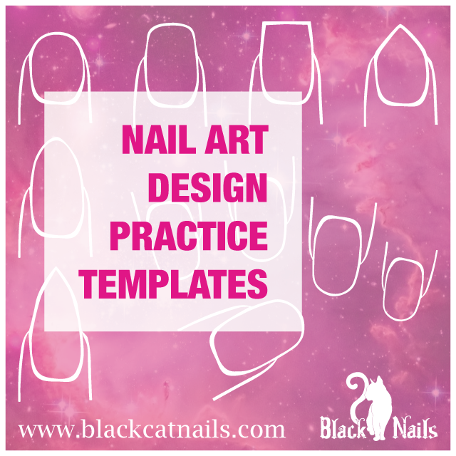 Nail Art Design Practice Templates or Sheets