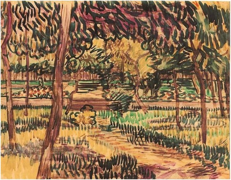 Watercolor Watercolour On Paper Saint Remy May 1889 Van Gogh