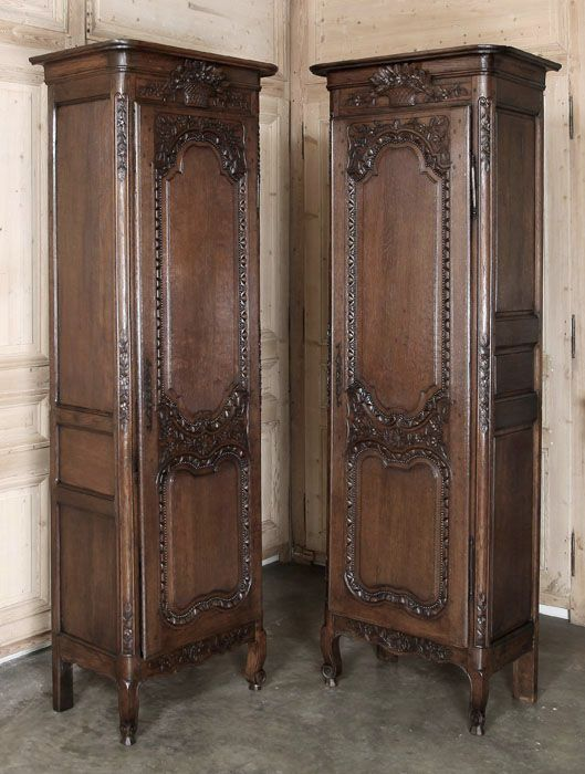 pair of country french normandie bonnetieres inessa stewart 39 s antiques antique french. Black Bedroom Furniture Sets. Home Design Ideas