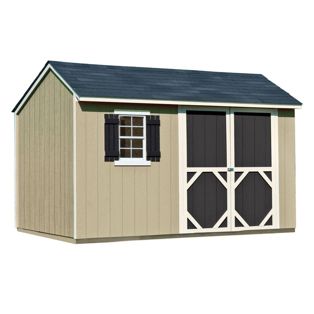 Heartland (Common: X Interior Dimensions: X 8 Feet) Stratford Saltbox  Engineered Wood Wood Storage Shed