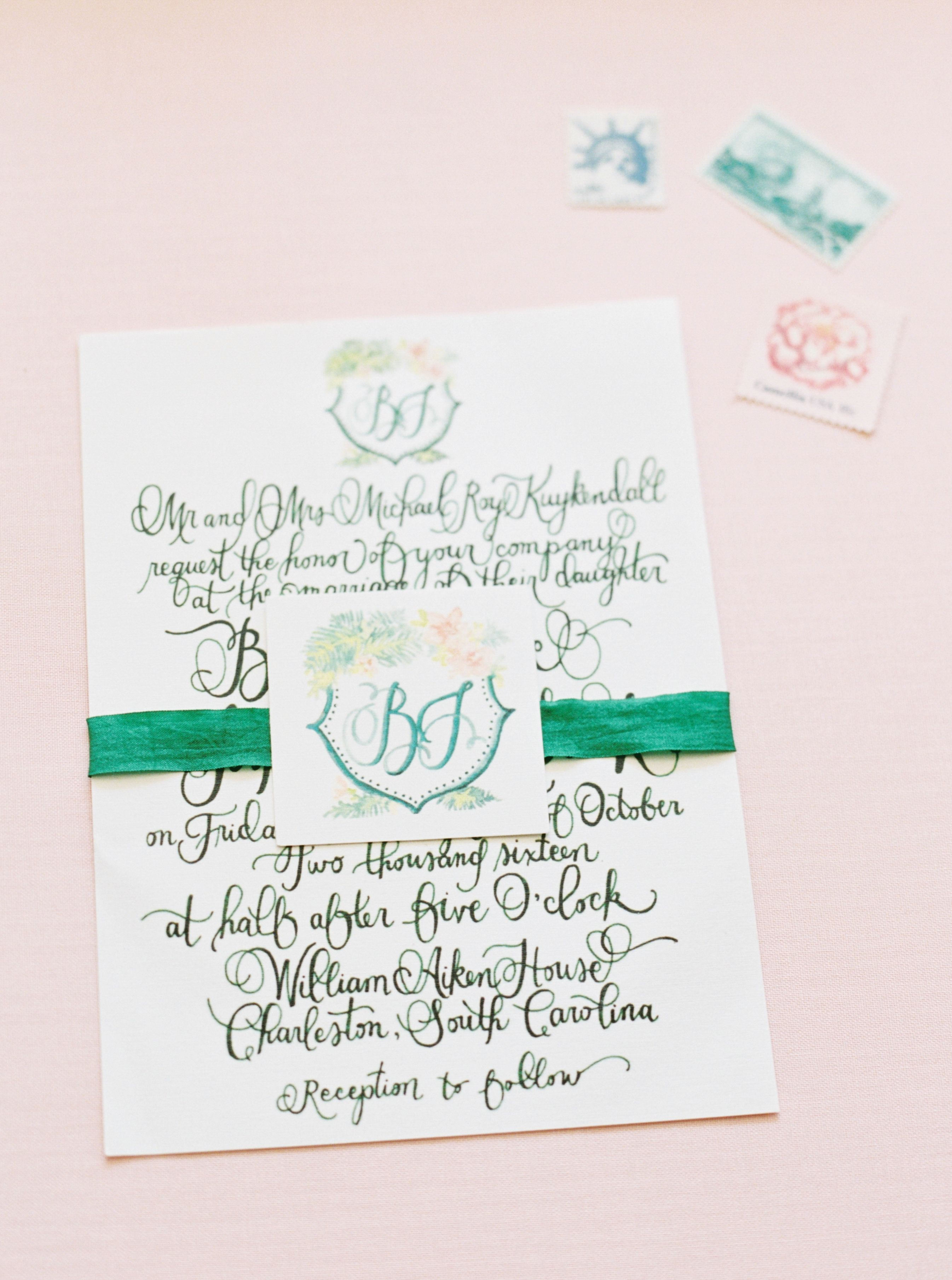 Whimsical Calligraphy Wedding Invitations a Wedding invitations