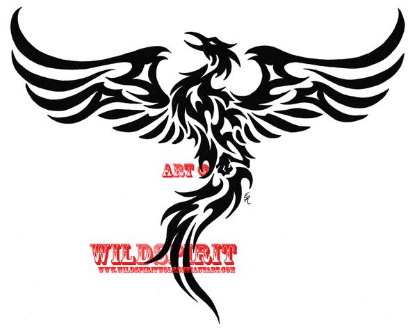 Rising Phoenix Tribal Tattoo By Wildspiritwolf On Deviantart Phoenix Tattoo Tribal Phoenix Tattoo Phoenix Tattoo Design