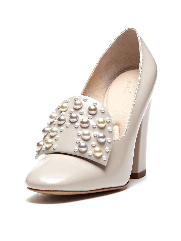 Pearl Chunky Heel Pump by Chloé at Gilt Chunky heel