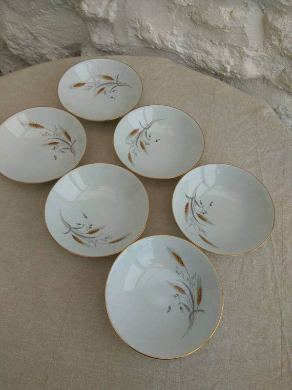 Pretty French Limoges porcelain retro dessert bowls or fruit dishes. & Check out this item in my Etsy shop https://www.etsy.com/uk/listing ...