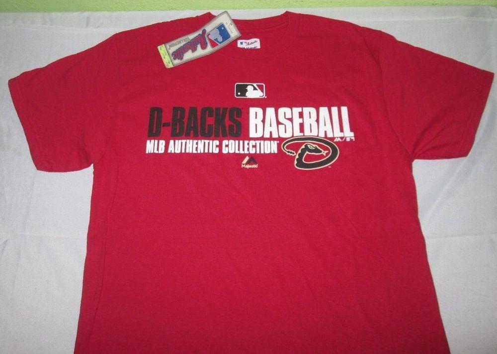 c8bac30b New ARIZONA DIAMONDBACKS MLB Authentic T Shirt Sz M Medium - Red - Majestic  NWT #Majestic #ArizonaDiamondbacks
