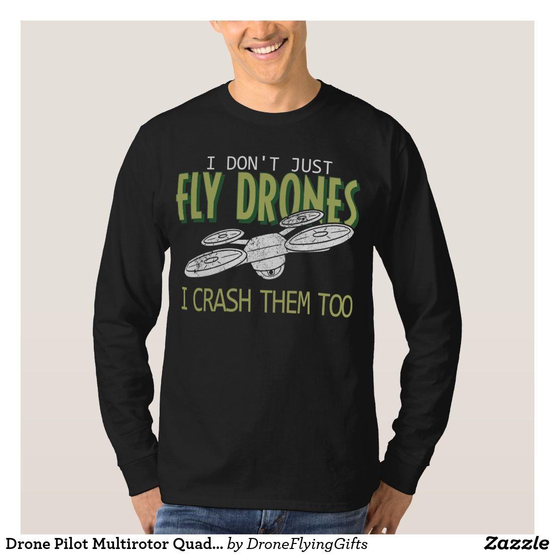 Bigfoot Sasquatch Drone Funny Quadcopter RPV UAV Pilot Gift T-Shirt