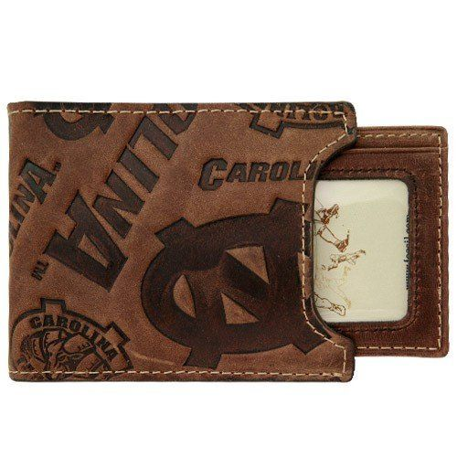 Brown Tyler and Tyler Mens Leather Stags Bill Fold Wallet