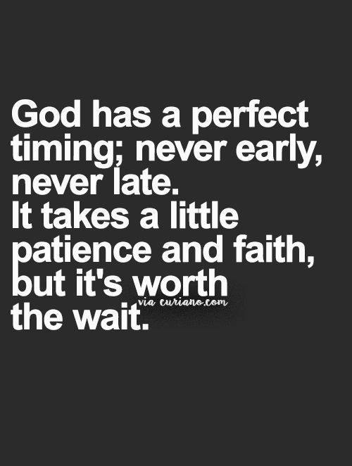 God has a perfect timing