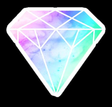 Rainbow Galaxy Diamond by Keelin Small | Pegatinas, Vinilos, Estampado