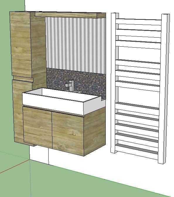 Conception de meubles de salle de bain sur mesure Création d\u0027un - Meuble Avec Miroir Pour Salle De Bain
