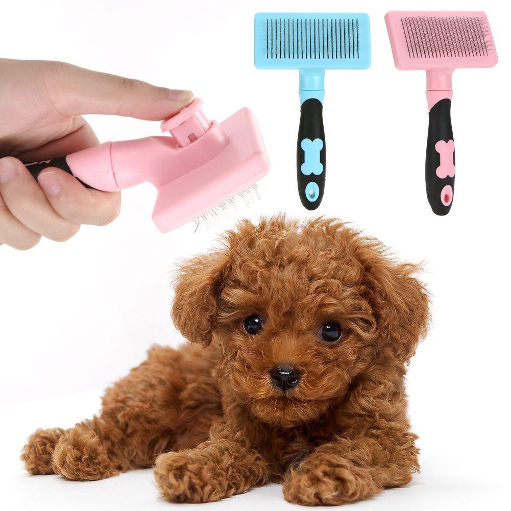 Puppy Cat Hair Grooming Slicker Comb Brush Quick Clean Tool Pet