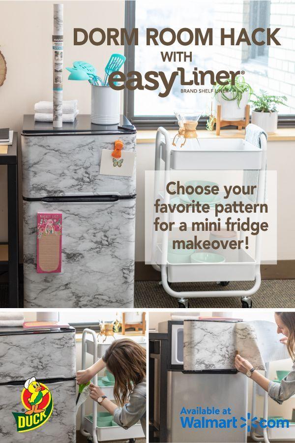 Ikea Dorm Room Ideas: EasyLiner® Adhesive Laminate - Gray Marble