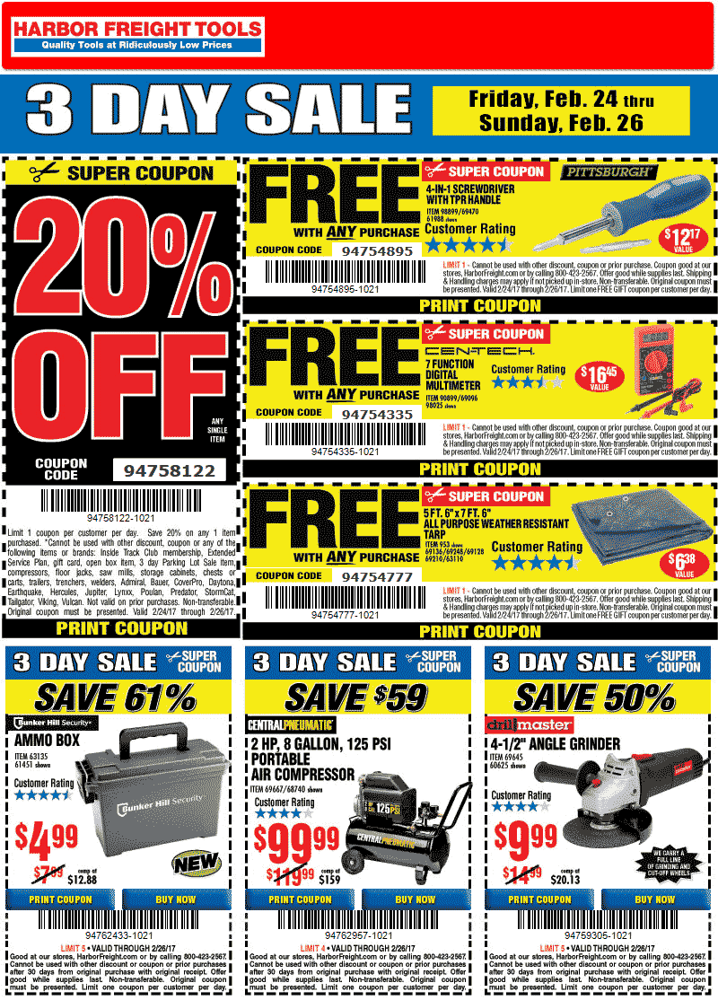 Pinned February 24th Free Digital Multimeter 20 Off A Single Item More At Harborfreight Tools Thecou Harbor Freight Tools Print Coupons Shopping Coupons