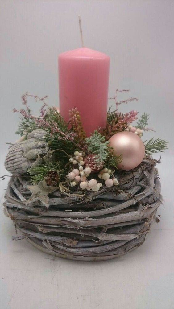 Photo of Filling Your Home with Favorite Christmas Scents- Pink Candles