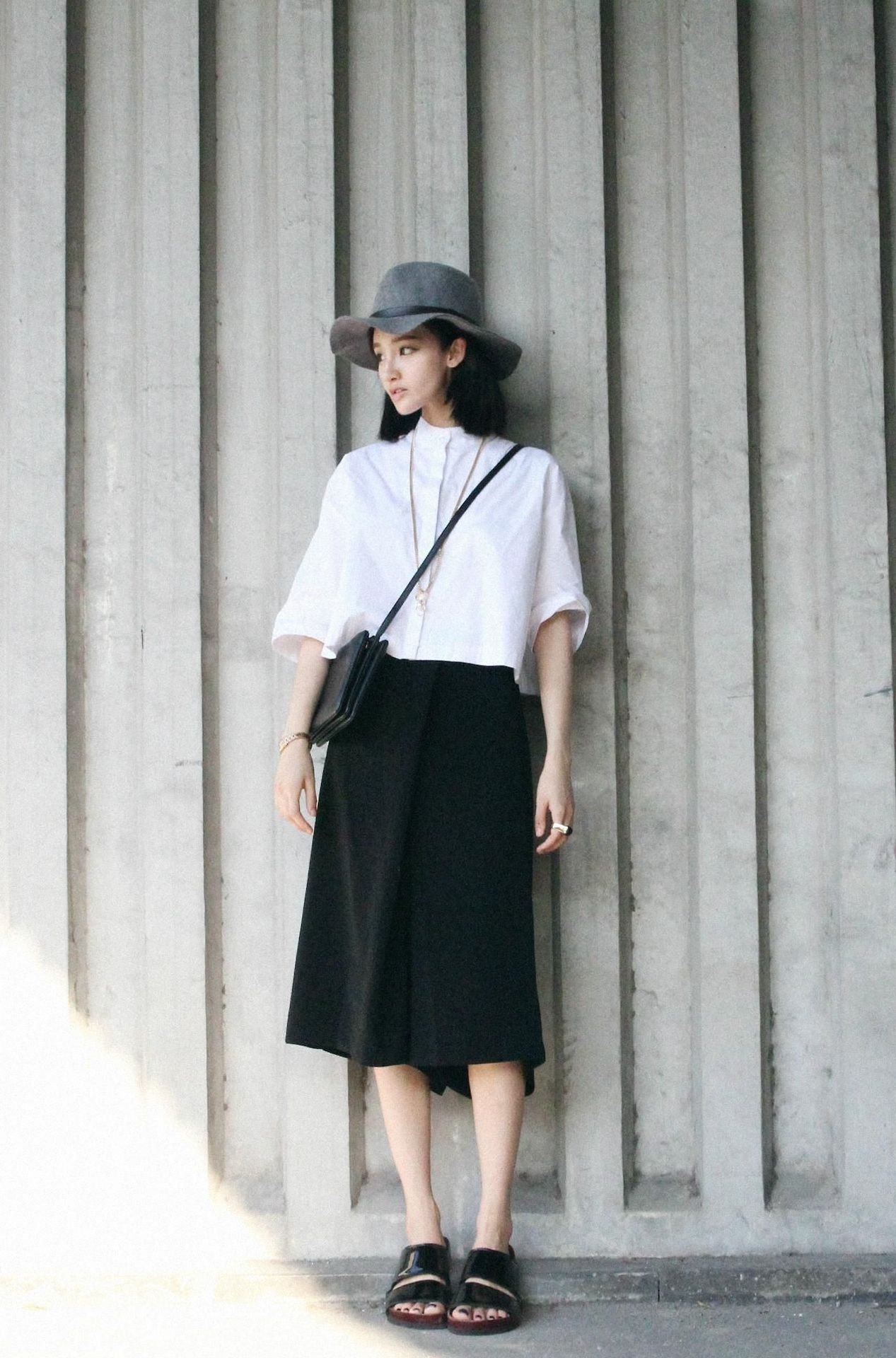 Loose blouse and long skirt fashion pinterest street