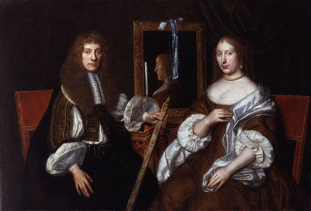 """""""Portrait of Archibald Campbell, 9th Earl of Argyll (1629-1685) with his second wife Anna Seaforth Mackenzie, the Widowed Countess of Balcarres"""" by an unknown Scottish artist (1670)"""