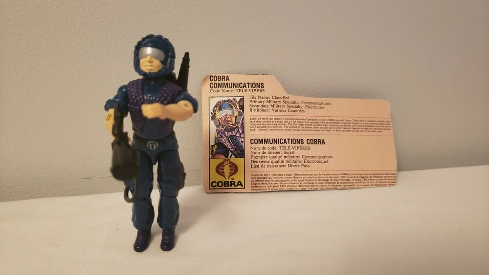 1986 Cobra Viper File Card Complete GI Joe Figure